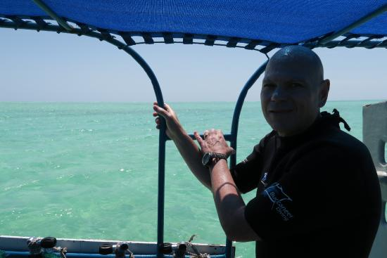 Buccaneer Diving: Hubby enjoying the surface interval.
