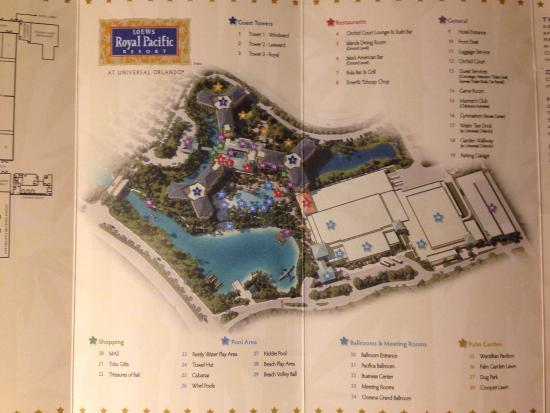 Map Of Hotel Ground Do Your Research Picture Of Loews Royal