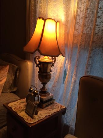 Littleton, MA: End Table Between Two Twin Beds in Poet's Corner