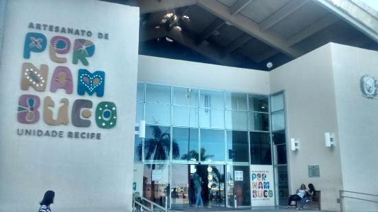 Centro de Artesanato de Pernambuco Unidade Recife: Entrada do mercado