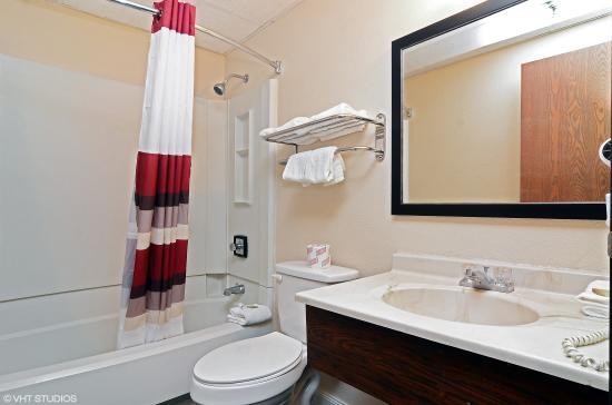 Red Roof Inn Binghamton North: Bathroom