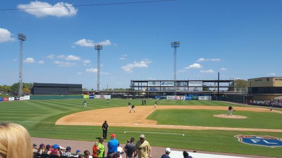 Joker Marchant Stadium: View from seats behind 3rd base