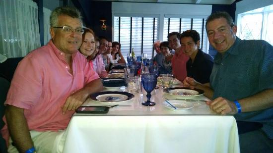 Our annual family dinner at The Ebb Tide!