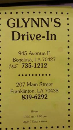 Bogalusa, LA: Glynn's Drive-In