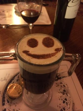 Church House Inn: A happy Irish coffee!
