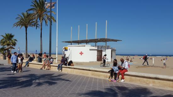 Playa de La Malvarrosa: Asistencia