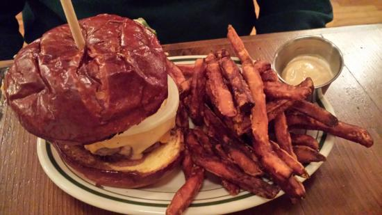 Stoughton, WI: Cannibal Burger & sweet potato fries
