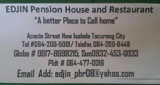 Tacurong, Filipinas: Edjin Pension House