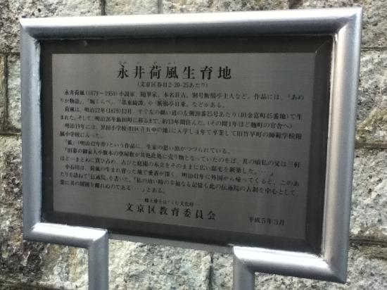 Kafu Nagai Birth Place Monument