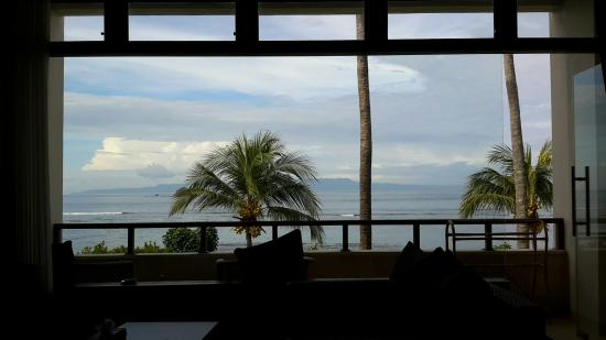 Hotel Genggong at Candidasa: The amazing view from my room.