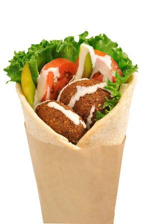 Carmel Valley, CA: Falafel wrap