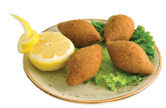 Carmel Valley, CA: Kibbeh or Kebbeh, cracked wheat, stuffed with seasoned minced lamb and beef, onion and pine nuts