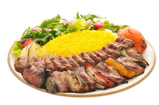 Carmel Valley, CA: Combination of Beef Shish Kebob and ground sirilion Kabob