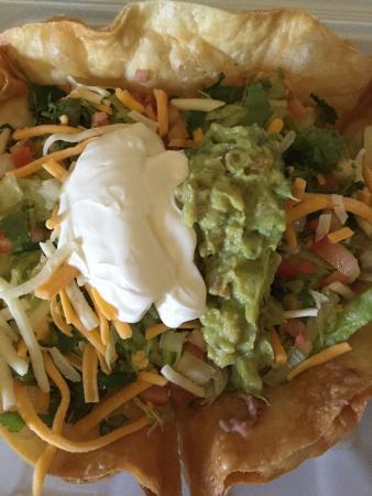 Brookings, OR: Taco salad at Celito Lindo