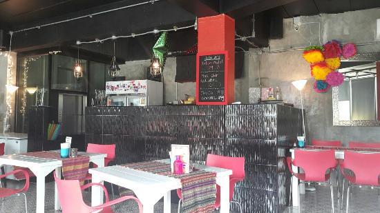 The decor at the new Salsa Kitchen near MeeChok Plaza