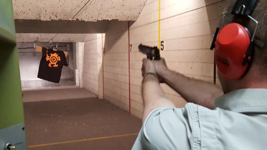 Las Vegas Gun Range & Firearm Center: Shooting up the T Shirt