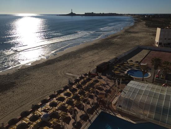 Hotel Entremares: Vista desde las habitaciones con vista al Mar Mediterráneo.