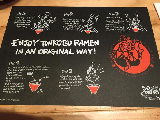"Ikkoryu Fukuoka Ramen: Step-by-step guide on how to ""enjoy tonkotsu ramen the original way."""