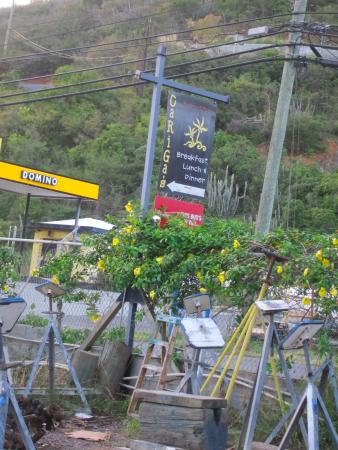 Up High On the main road from Red Hook toward Charlotte Amalie.
