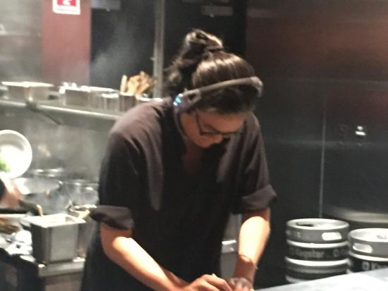 Billy Kwong: Kylie hard at work