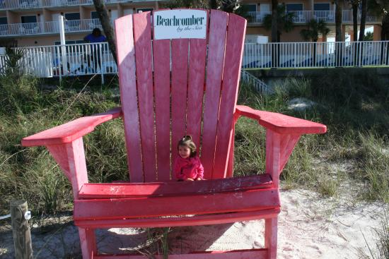 the beachcomber beach chair in front of the hotel on the beach rh tripadvisor com