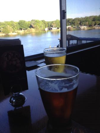 Astor, FL: View of the St Johns from our inside table...next to the bar...