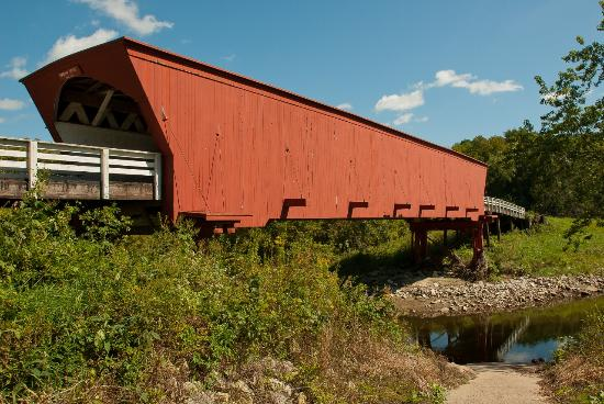 Madison County Chamber of Commerce & Welcome Center: The Roseman Bridge, Winterset, Iowa