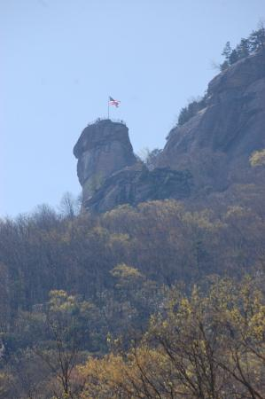 """Chimney Rock, Kuzey Carolina: """"Wait - we're climbing up there?!?"""""""
