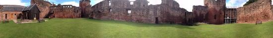 Bothwell Castle: A panorama inside the castle, on a sunny day, a few years ago now.