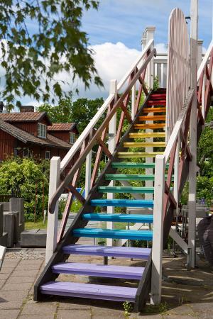 Bomans Hotel in Trosa : Regnbågstrappan