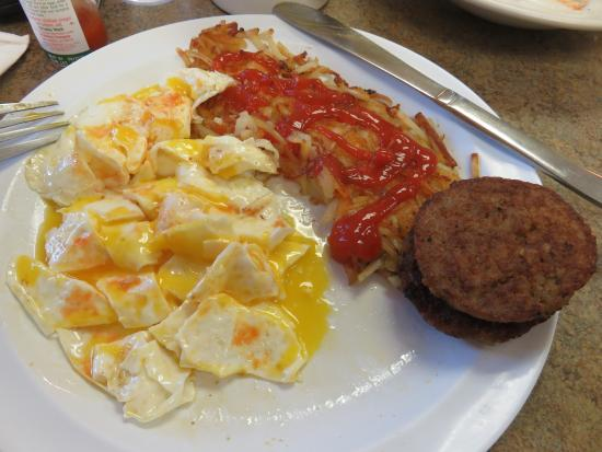 Richmond, MO: Sausage and Egg Breakfast (w/Ketchup and Tabasco added)