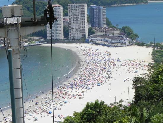 1d54668bd Praia de Santos vista do alto. - Picture of Teleferico Sao Vicente ...