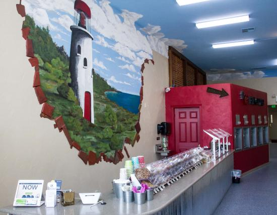 decorated with an enchanting wall mural painted by jeff himself rh tripadvisor com