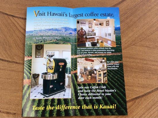 Kalaheo, Hawaï: Kauai coffee visitor center