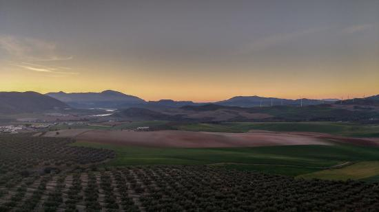Teba, Espanha: View from the terrace at sunrise