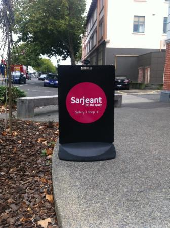 Sarjeant Gallery: Signage