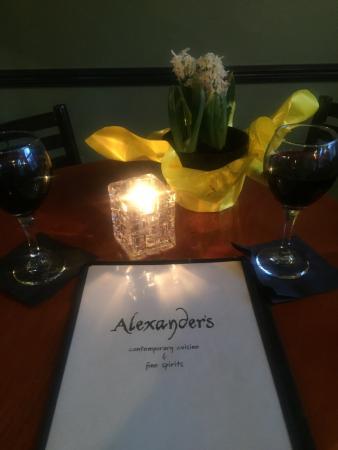Alexander's Restaurant : Romance and beauty