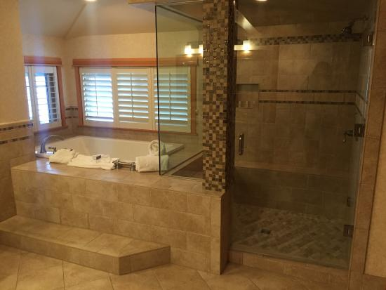 Jacuzzi tub and steam shower (tub had a view of the ocean) - Picture ...