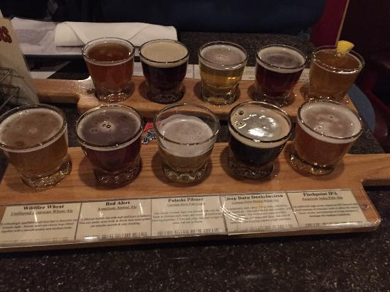 Beer Flight Picture Of Pumphouse Brewery Longmont Tripadvisor