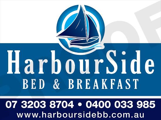 Harbourside B&B: Our sign from road