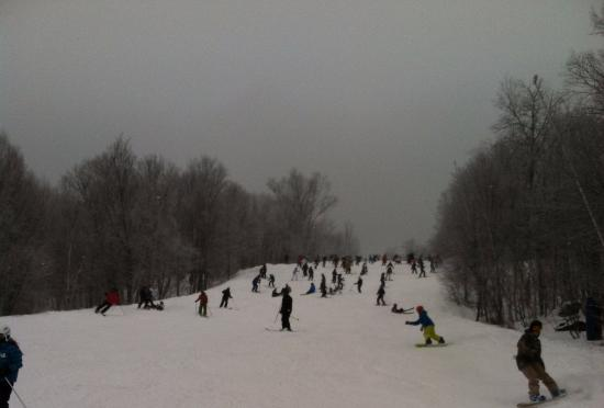 Mont Tremblant Resort: Christmas Vacation 2015 This is the most crowded ski slope I've every seen.