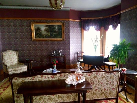 Albion, MI: Relax in the parlor with a cup of tea or glass of sherry.