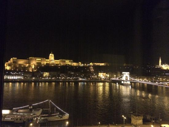 Sofitel Budapest Chain Bridge: View from the room at night