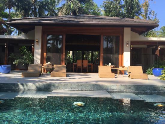 The Farm at San Benito: Villa pool and main house