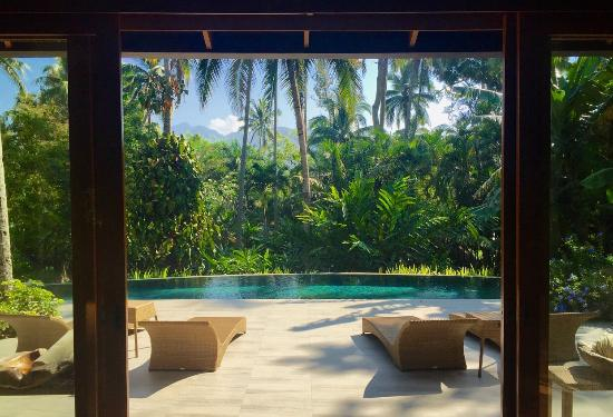 The Farm at San Benito: Infinity pool overlooking the villa's private gardens