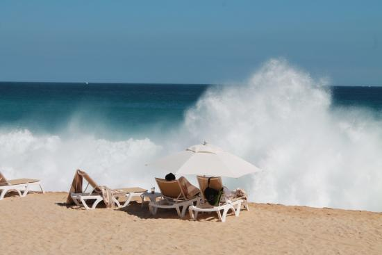 Sheraton Grand Los Cabos Hacienda Del Mar Beach Too Rough For Swimming