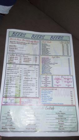 beer menu list picture of downtown diners living beer cafe
