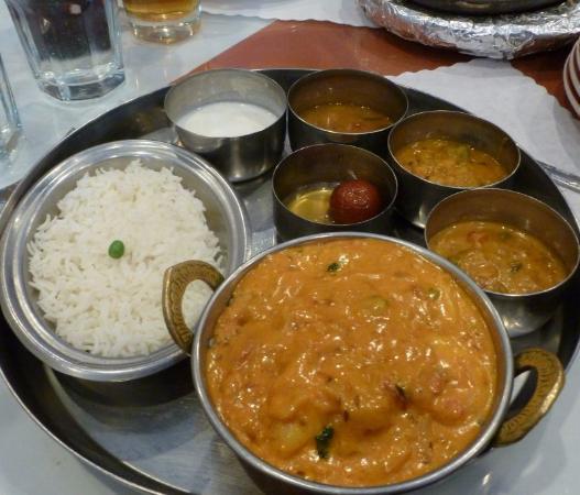 Masala Indian Cuisine: Shrimp Tikka Masala Thali Style...