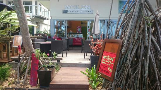 Wok On Noodle Bar: New entrance WELCOME ALL