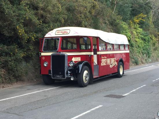 Shuttle bus - Picture of Jersey War Tunnels - German